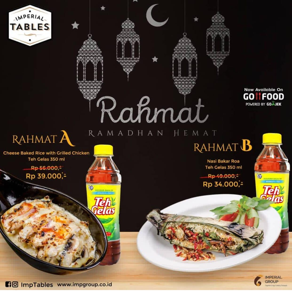 IMPERIAL TABLES Promo Paket RAHMAT (Ramadhan Hemat) – Harga mulai Rp. 34.000
