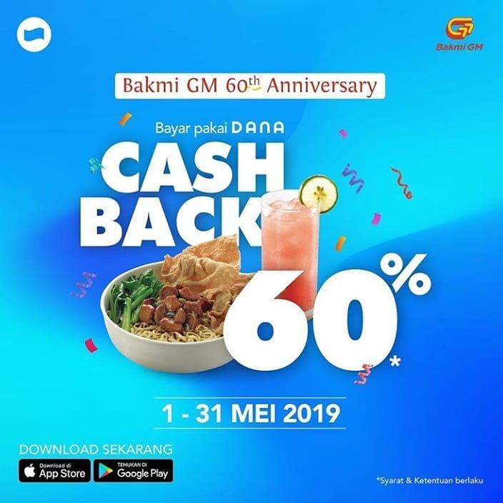 Bakmi GM Cashback 60% Dengan Dana