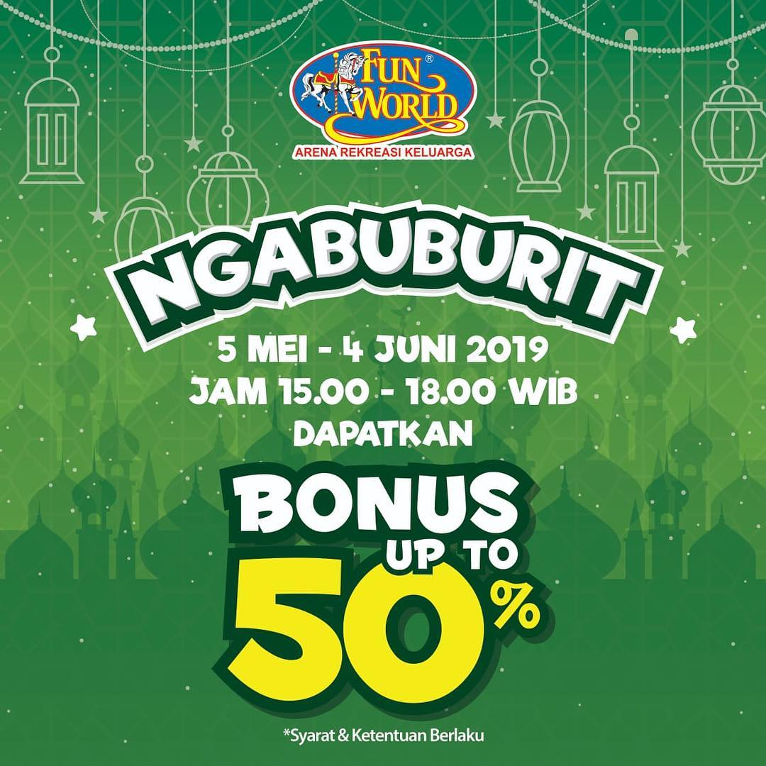 FUNWORLD Promo NGABUBURIT – Dapatkan Bonus Saldo up to 50%