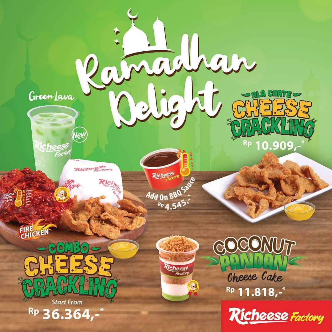 RICHEESE FACTORY Ramadhan Delight – Combo Cheese Crackling Harga Spesial mulai Rp. 36.364