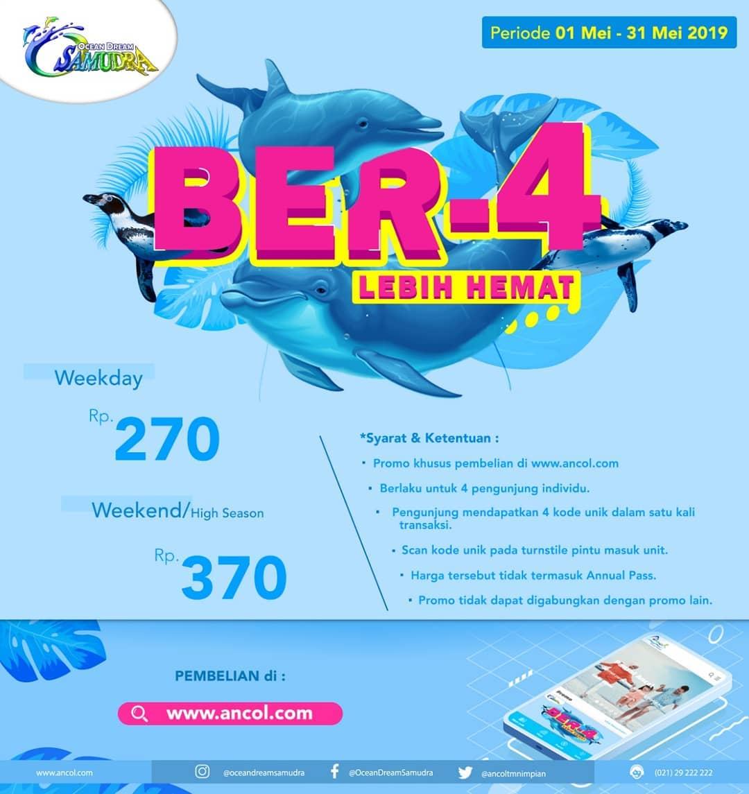 OCEAN DREAM SAMUDRA ANCOL Promo Paket Hemat Ber-4