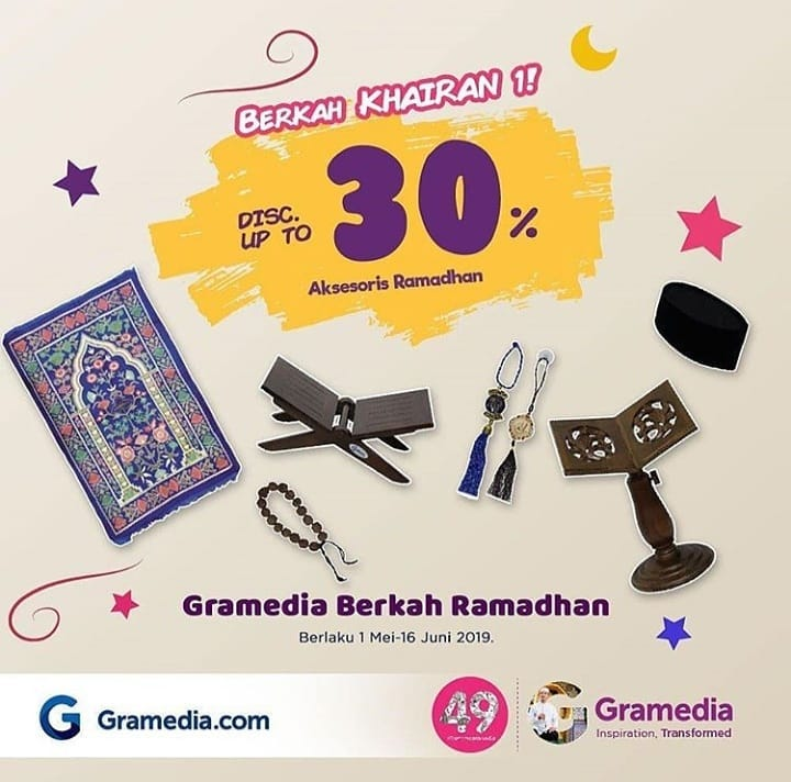 GRAMEDIA Promo Berkah Khairan 1 – Discount Up to 30%* Aksesoris Ramadhan