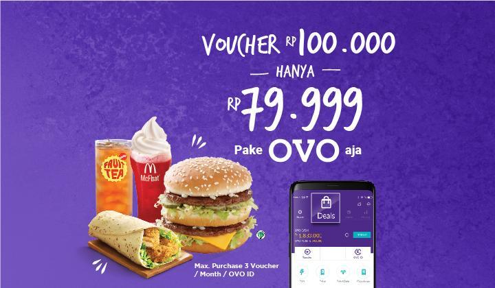 McDonalds Promo Beli Voucher Rp. 100.000 Cuma Rp. 79.999 Di Ovo