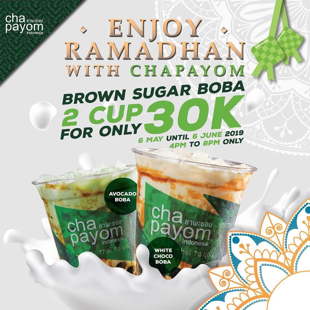 Diskon CHAPAYOM Promo Ramadhan 2 Cup Boba Series hanya 30K*