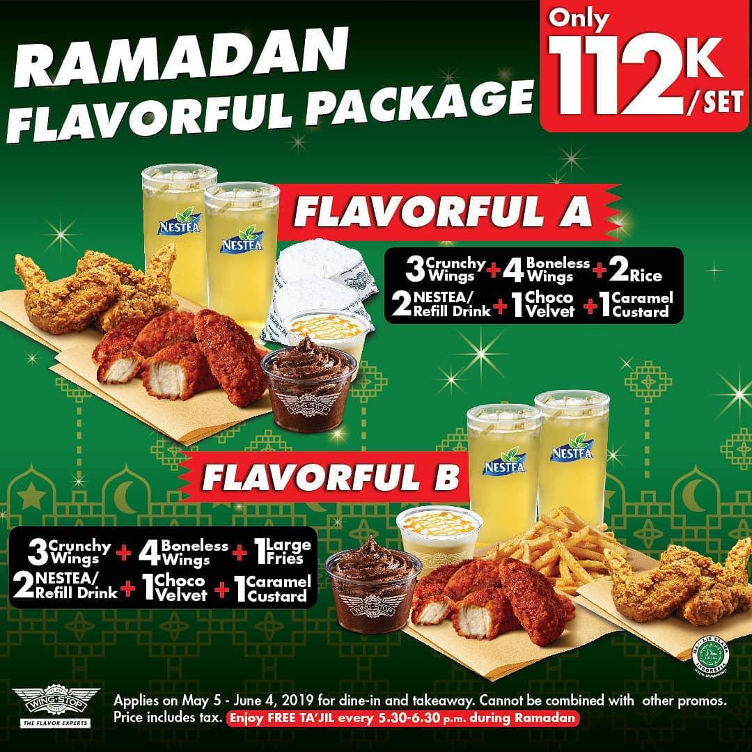 Diskon Wingstop Promo Ramadan Flavorful Package, Harga Rp. 112.000 per Set