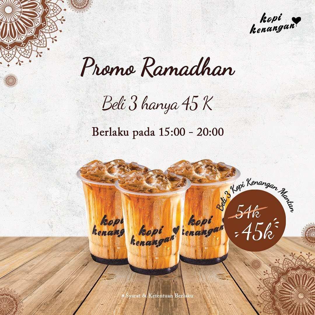 Diskon Kopi Kenangan Promo Ramadhan – Beli 3 CUPS KOPI KENANGAN MANTAN HANYA Rp. 45.000