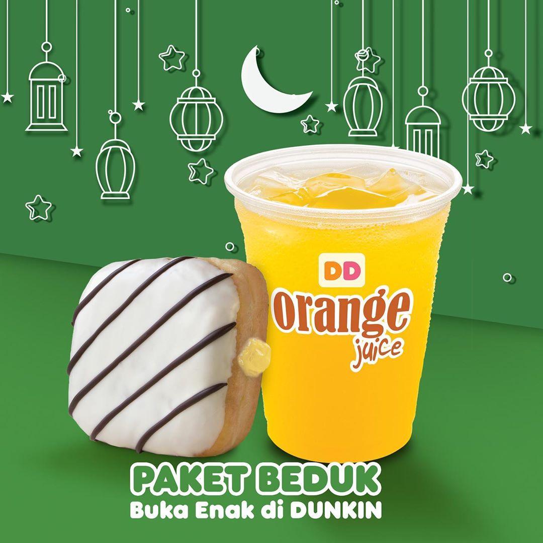 Diskon DUNKIN DONUTS Promo PAKET BEDUK – HARGA SPESIAL Paket 2 Minuman + 6 Donut cuma Rp. 60.000