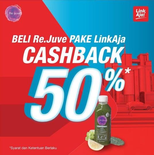 Diskon Rejuve Cashback 50% dengan LinkAja