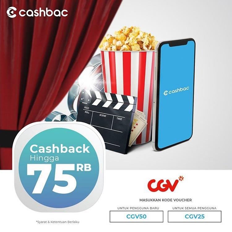 CGV Promo Cashback hingga 50% untuk transaksi dengan CASHBAC App