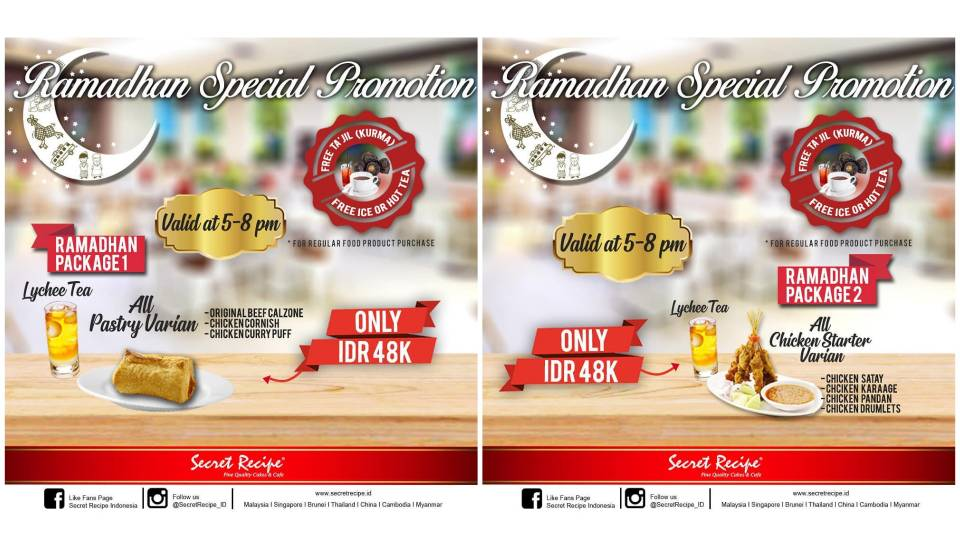 SECRET RECIPE Ramadhan Special Promotion – Harga Spesial Rp. 48.000