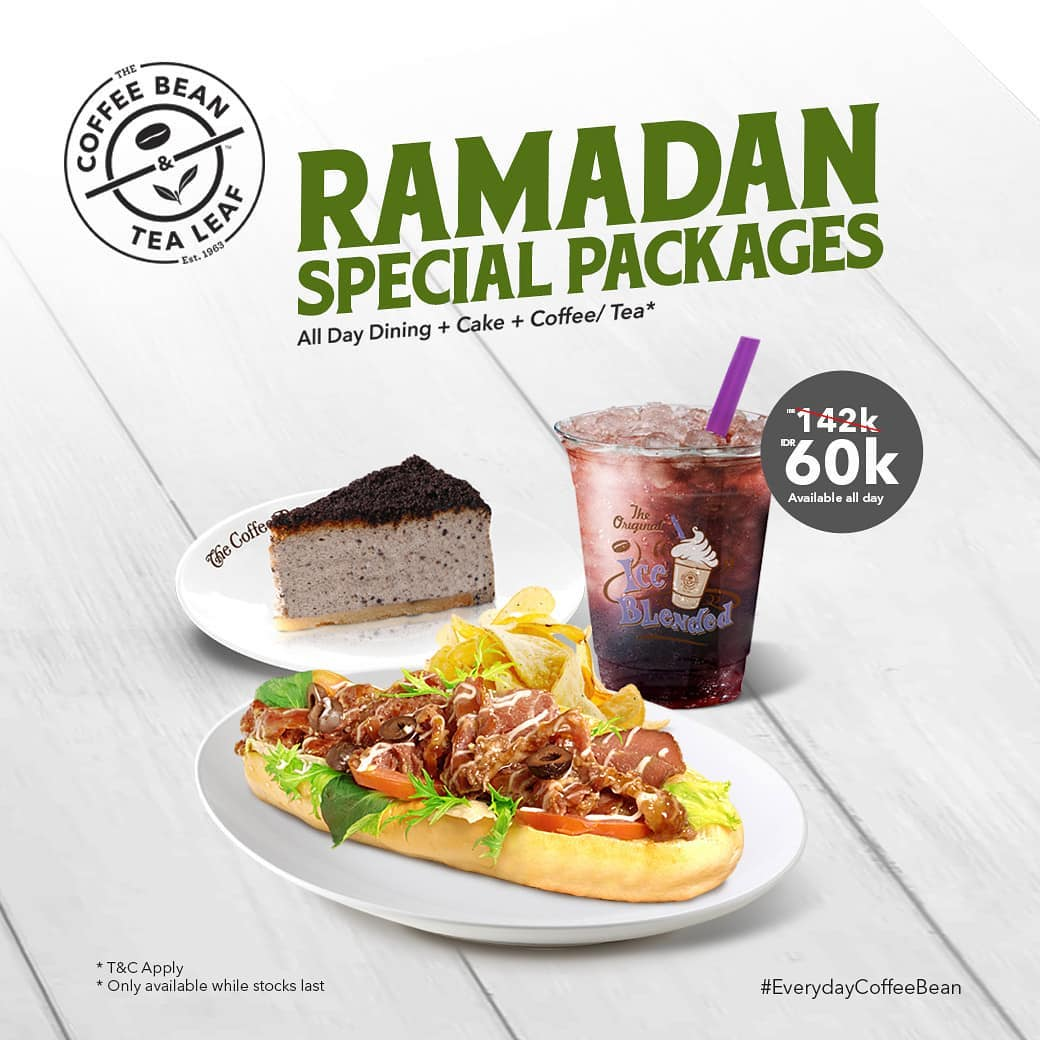Coffee Bean & Tea Leaf Promo Ramadan Special Package, Paket Bukber Rp. 60.000
