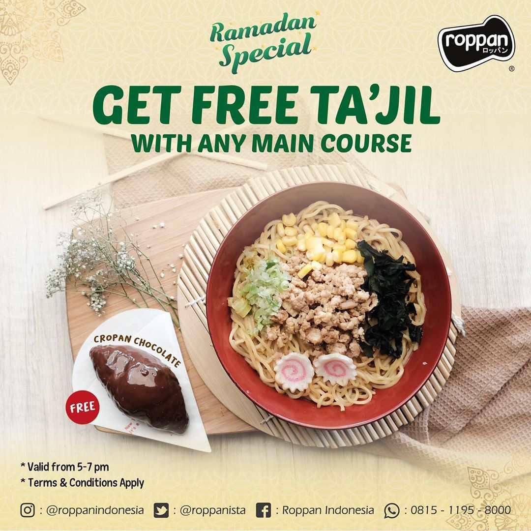 Roppan Promo Spesial RAMADHAN, Free Takjil Buka Puasa
