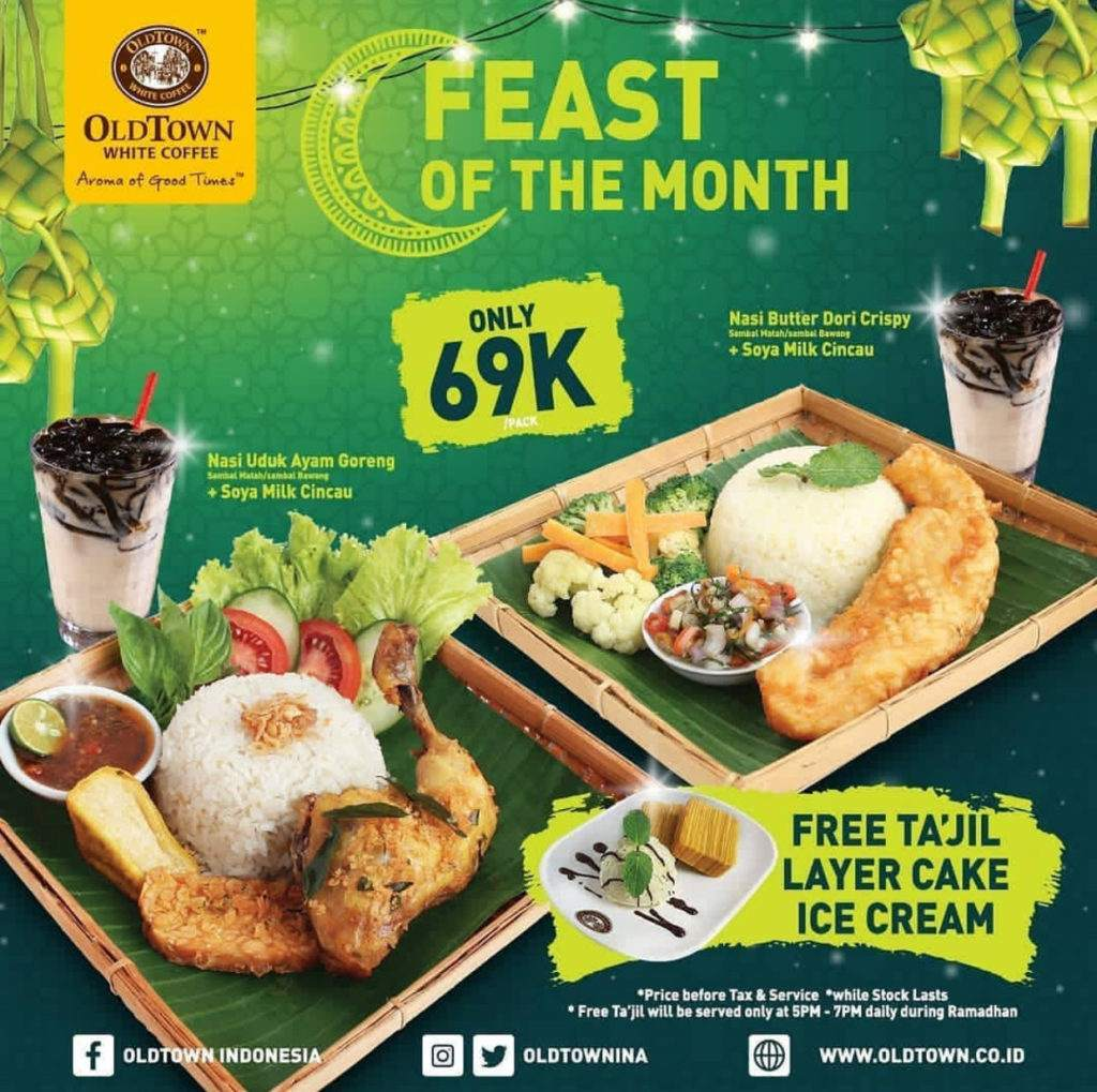 Diskon Old Town White Coffee Promo Feast Of The Month – Hanya Rp. 69.000 FREE Ta'jil