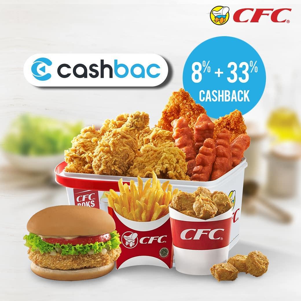 CFC Promo Cashback 8% + 33% untuk transaksi dengan Cashbac