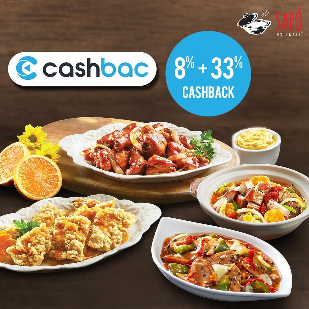 Diskon SAPO ORIENTAL Promo CASHBACK 8% + 33% transaksi dengan Cashbac