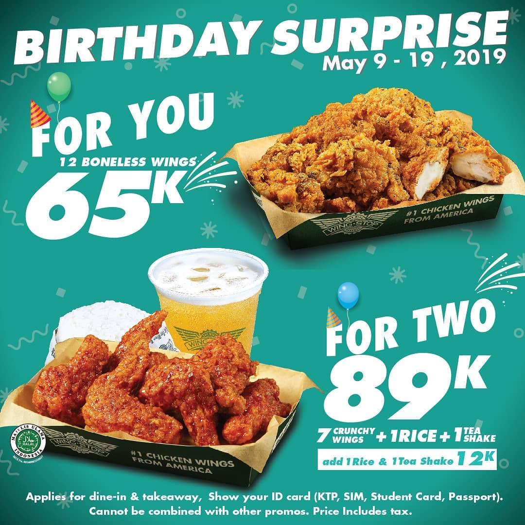 WINGSTOP Birthday Surprise Mulai dari Rp. 65.000
