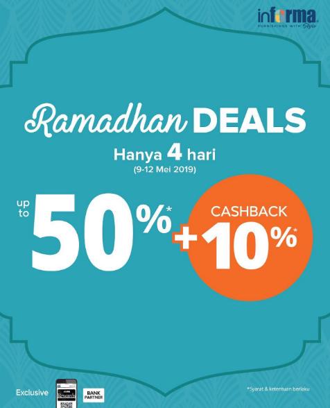 INFORMA Promo RAMADHAN DEALS – Diskon hingga 50% + Extra Cashback 10%*