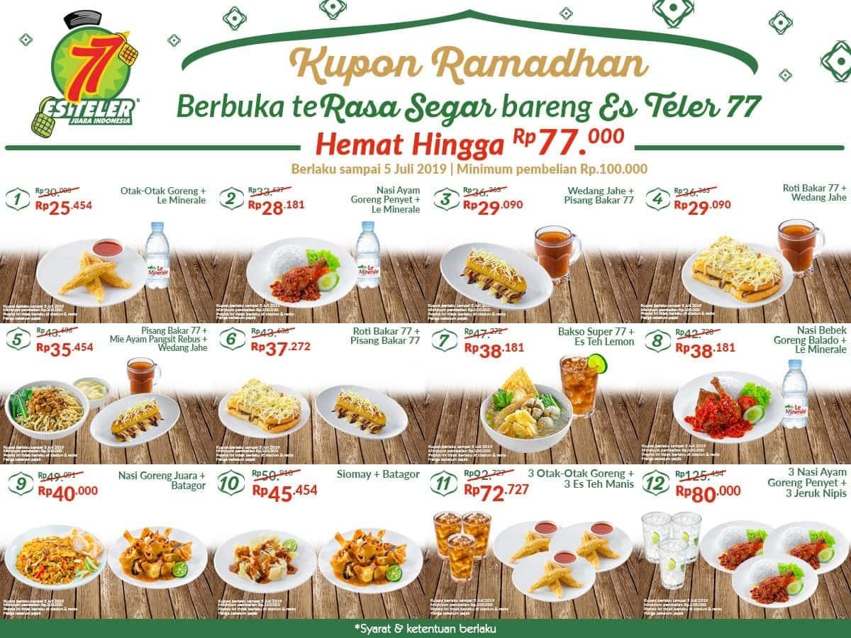 Diskon ES TELER 77 Promo Kupon Sobek Special Ramadhan – Hemat hingga Rp. 77.000