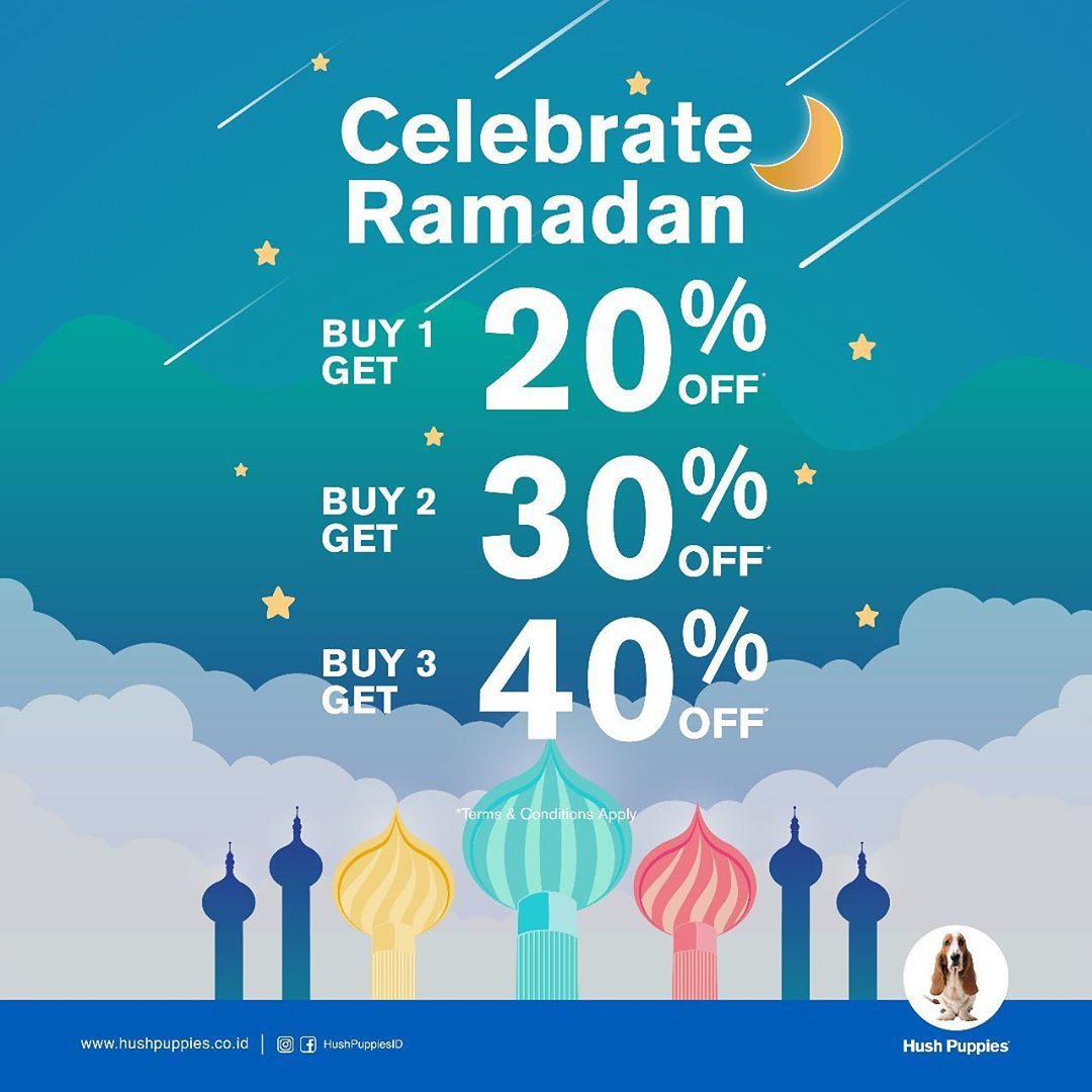 Diskon HUSH PUPPIES Celebrate Ramadhan Diskon sampai 40%