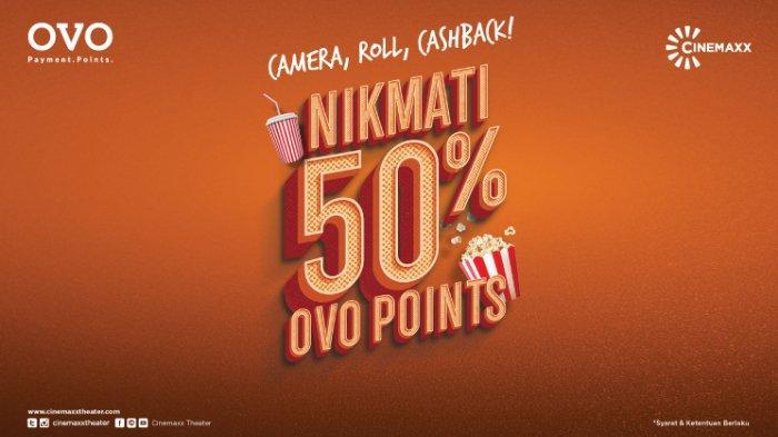 CINEMAXX Promo Beli Tiket Pakai OVO dapat Cashback 50%