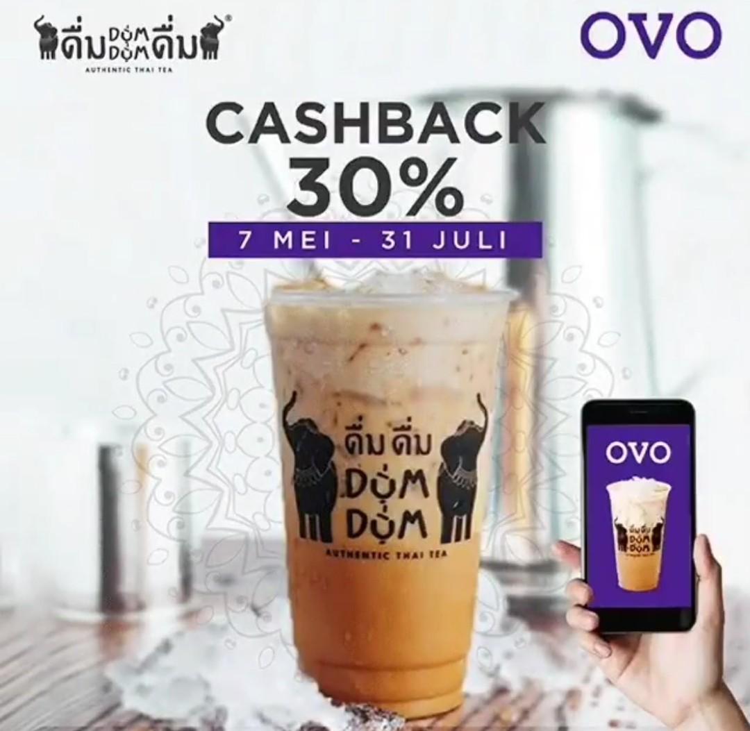Diskon DUM DUM Thai Tea Promo Cashback 30% dengan OVO