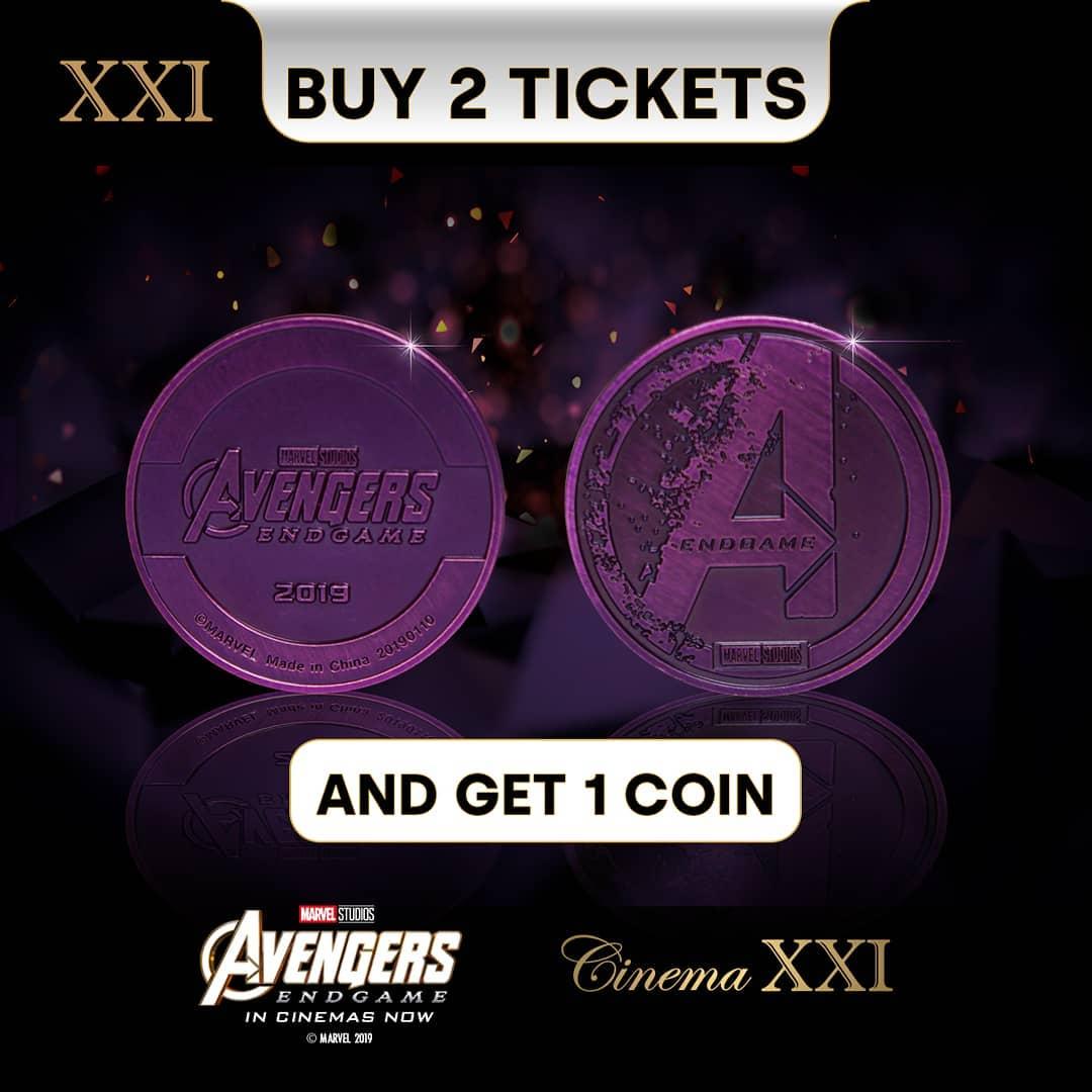 "CINEMA 21 & XXI Promo Beli 2 Tiket ""Avengers Endgame"" dapat 1 Coin"