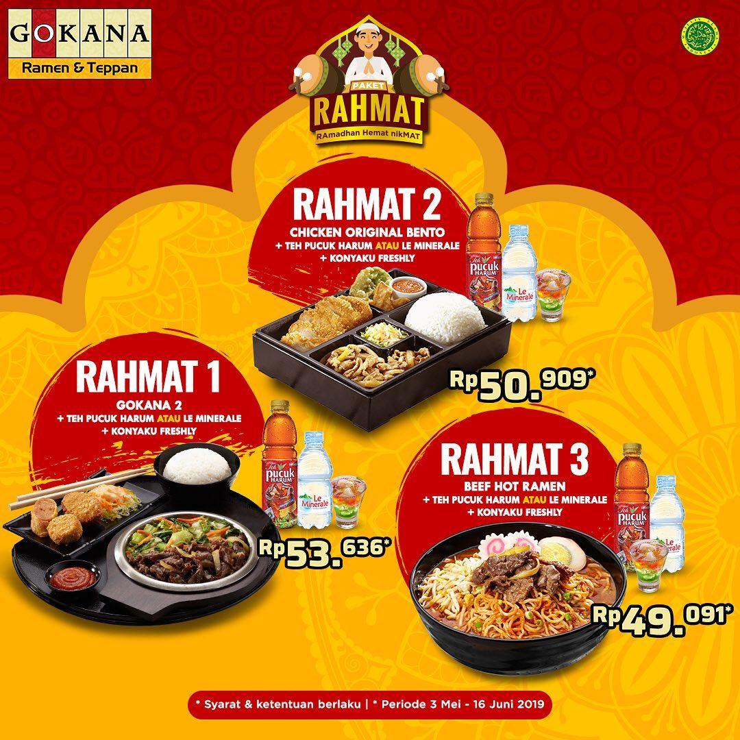 GOKANA RAMEN & TEPPAN Promo Paket Rahmat Harga mulai Rp. 49.091