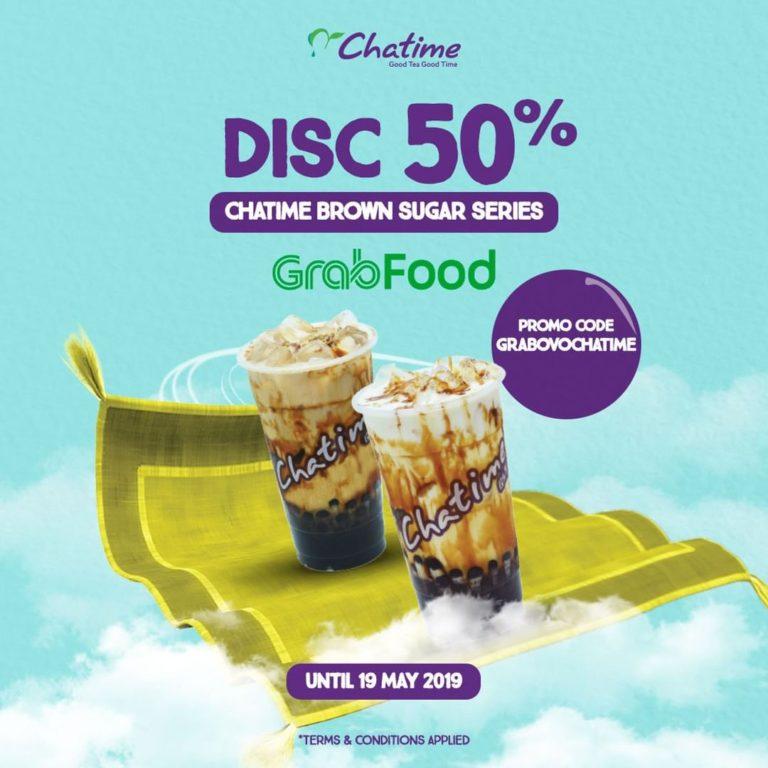 CHATIME DISKON hingga 50% via GrabFood