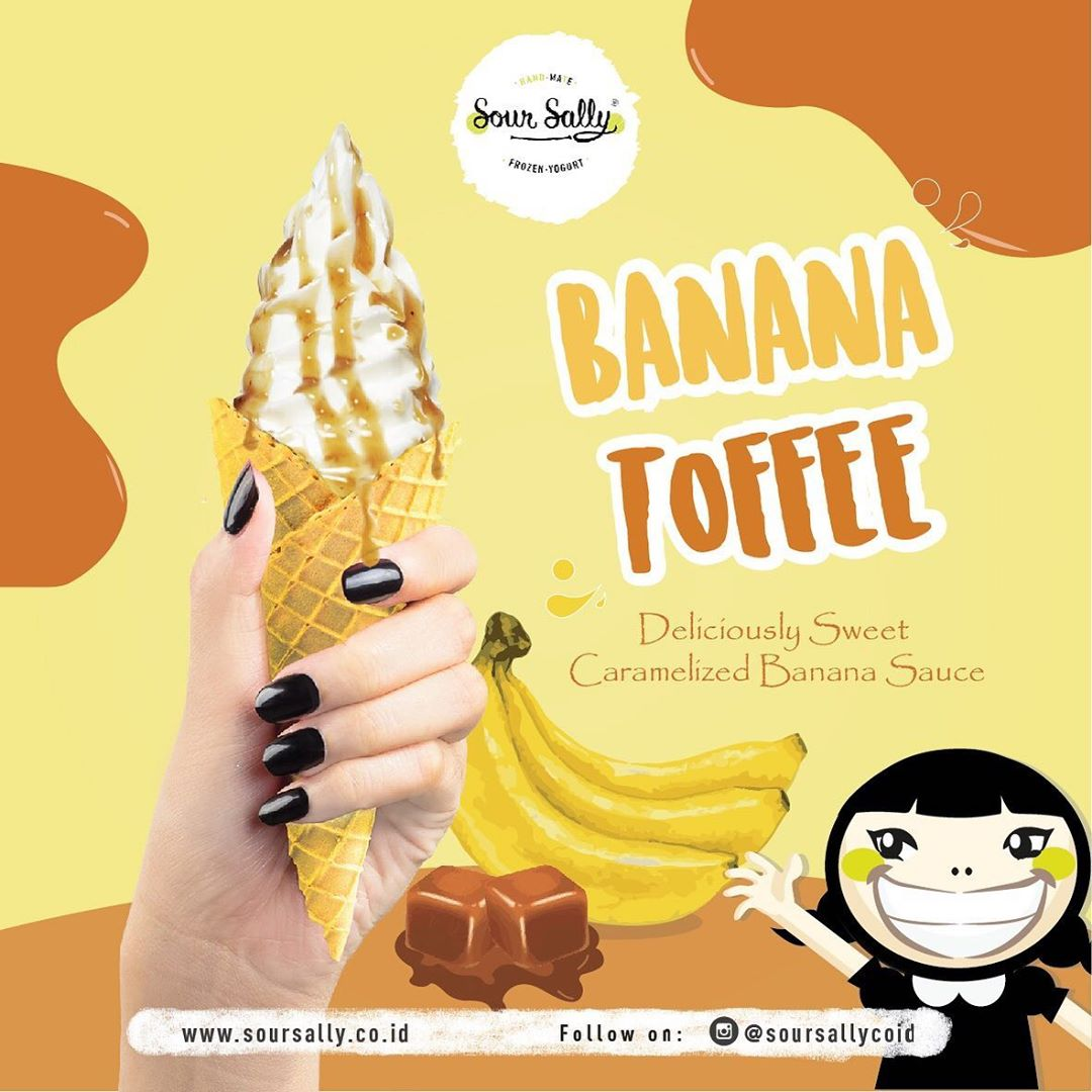 Diskon SOUR SALLY NEW BANANA TOFFEE SAUCE