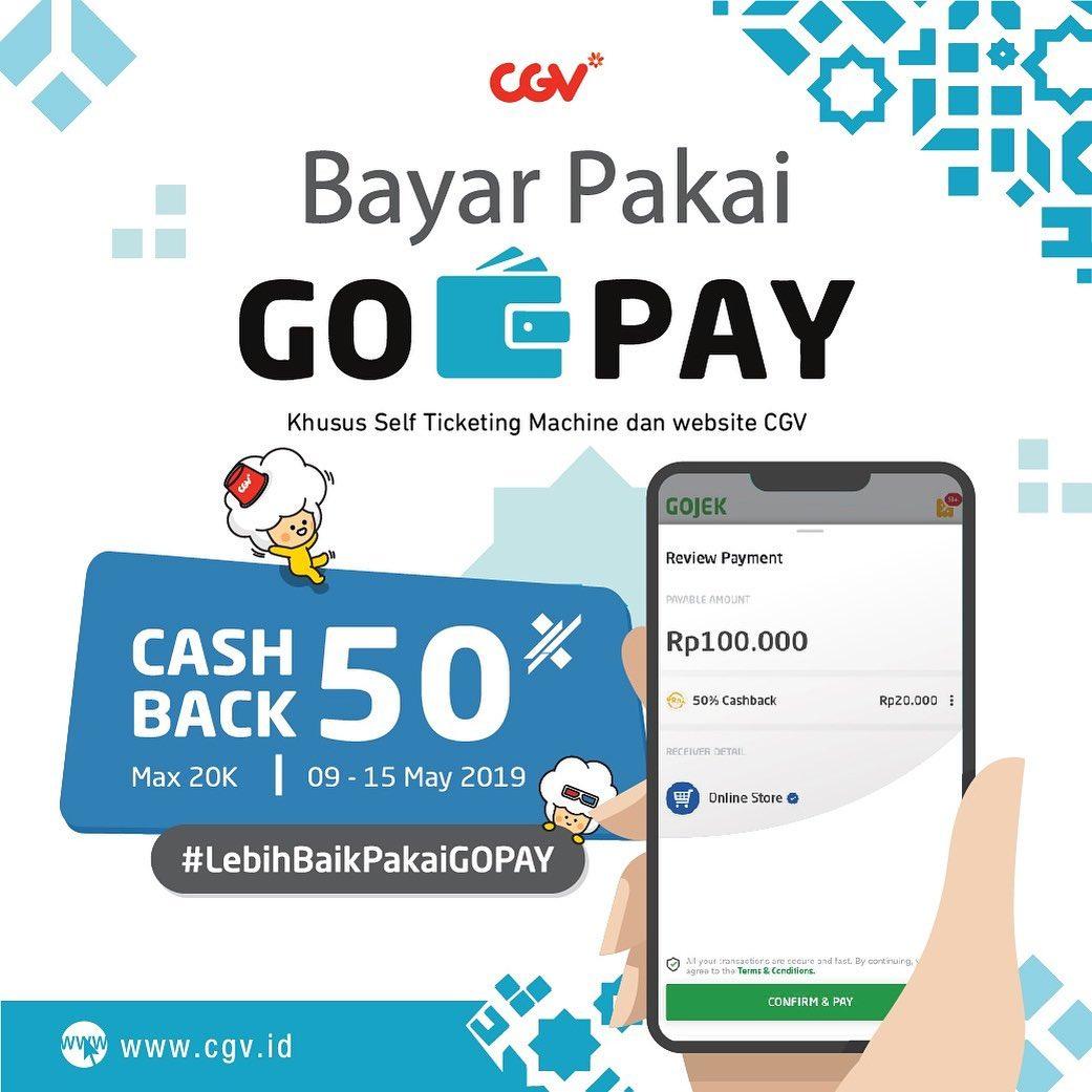 Diskon CGV Puasale Ramadan Cashback 50% Beli Tiket Nonton Pakai GO-PAY