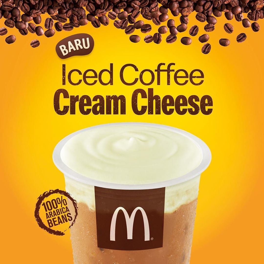 McDONALDS NEW Iced Coffee Cream Cheese Harga mulai Rp. 19.500