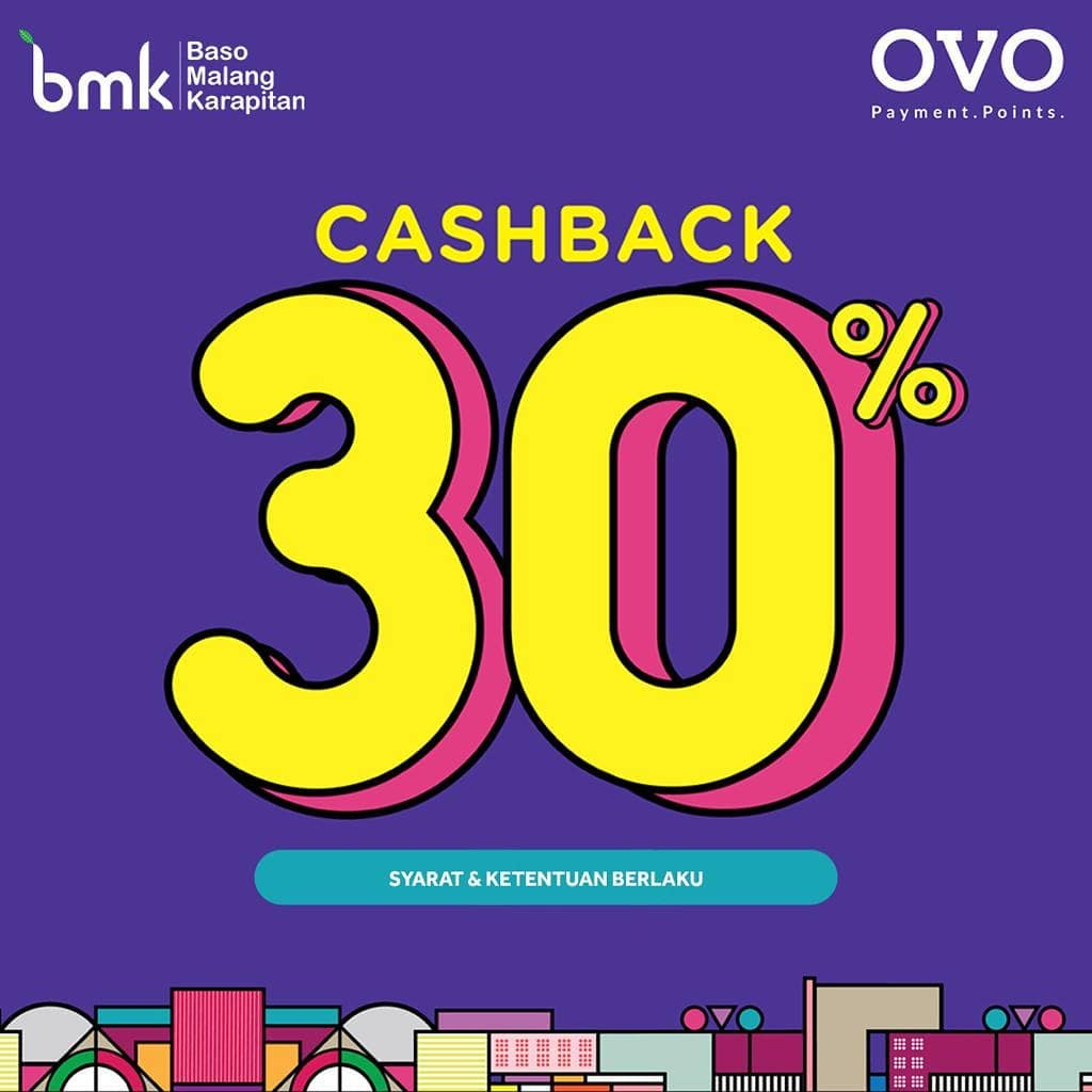 BMK RESTO Promo Cashback 30% Dengan OVO