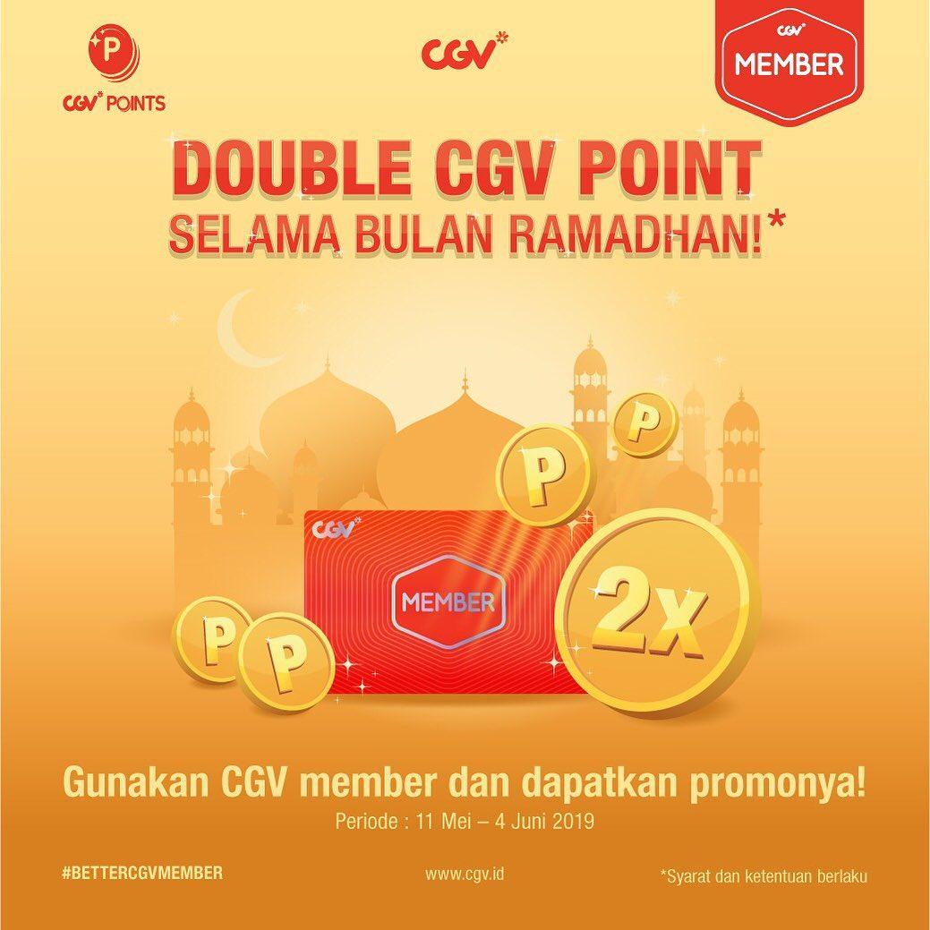 CGV Cinemas Promo Double CGV Point Selama Ramadan