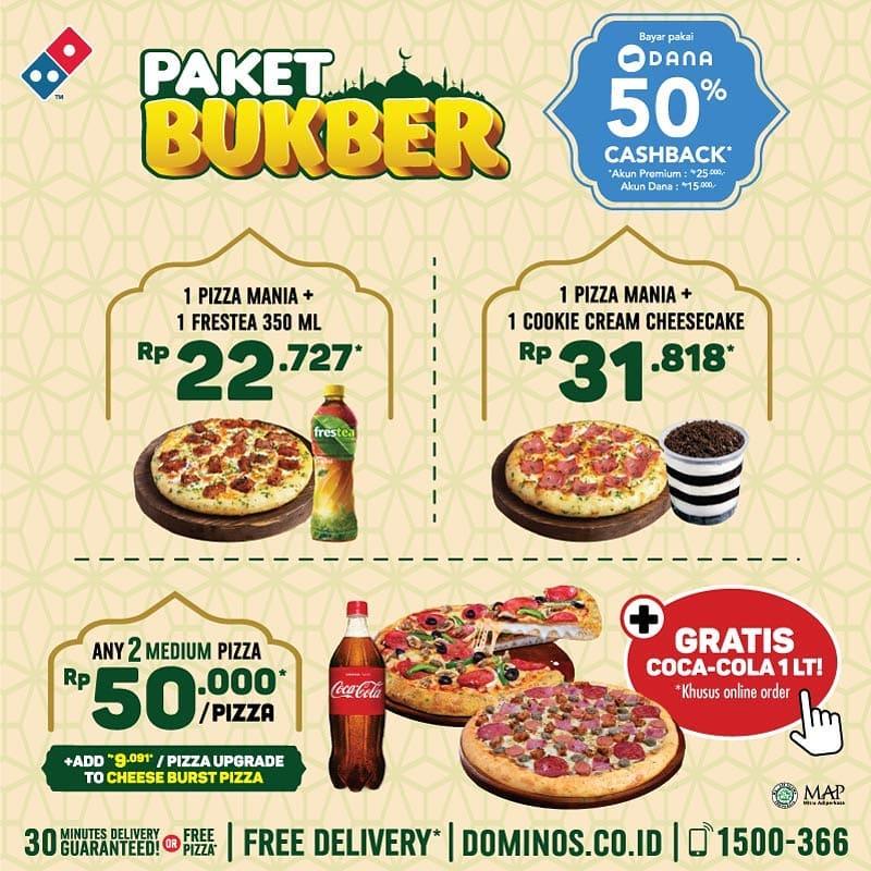 Diskon DOMINO'S PIZZA Promo Special PAKET BUKBER Harga mulai Rp. 22.727