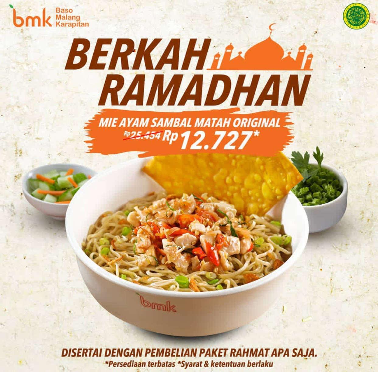 BMK Resto (Bakso Malang Karapitan) Promo Harga Spesial Mie Ayam Sambal Matah Original Hanya Rp. 12.7