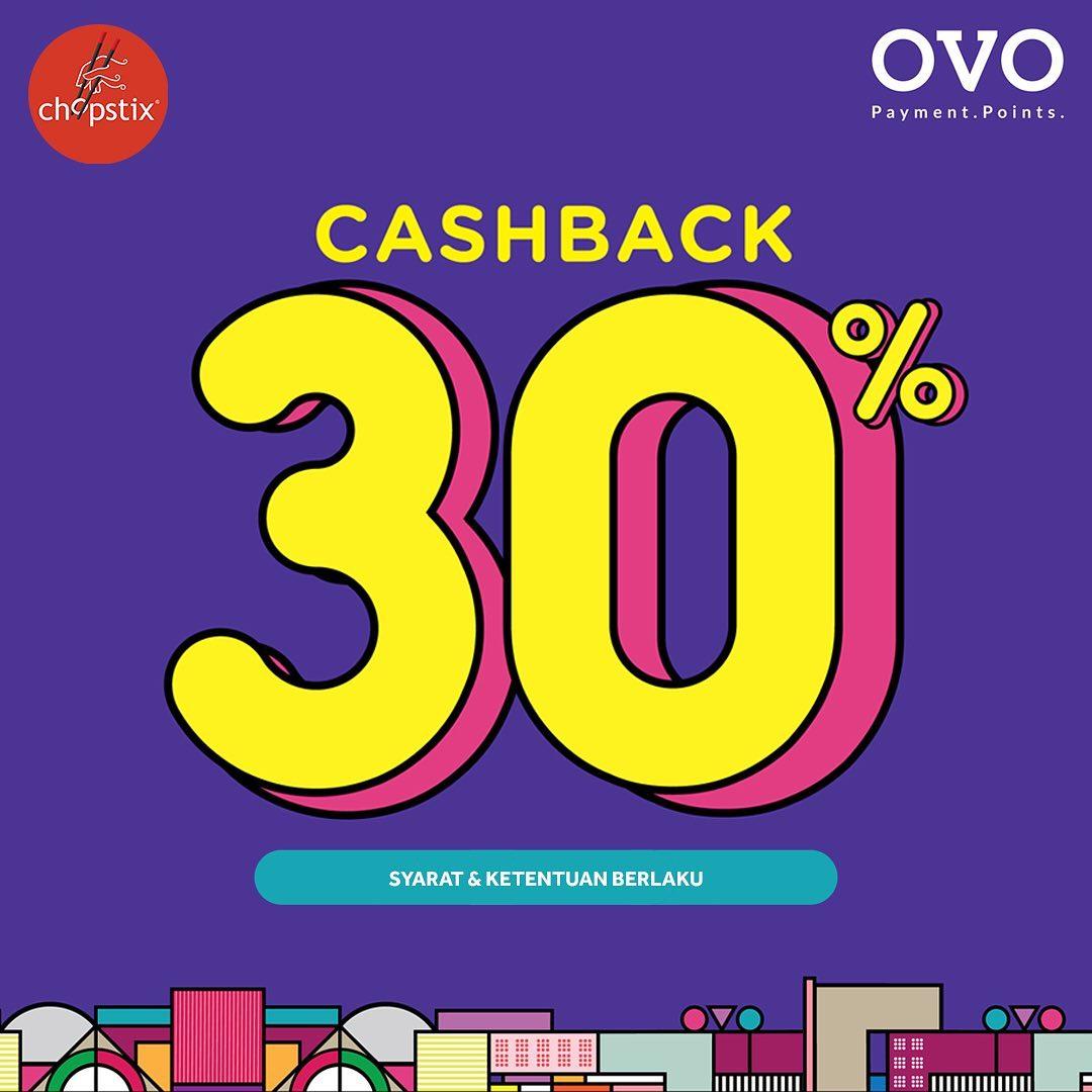 Diskon CHOPSTIX Promo CASHBACK 30% dengan OVO