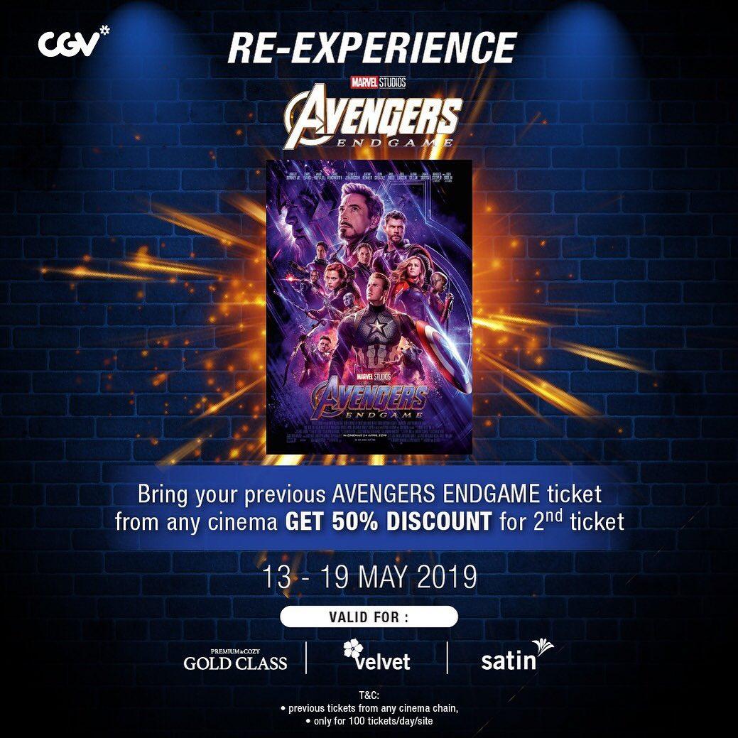 CGV Cinemas Promo Diskon Hingga 50% untuk Tiket Avengers: Endgame