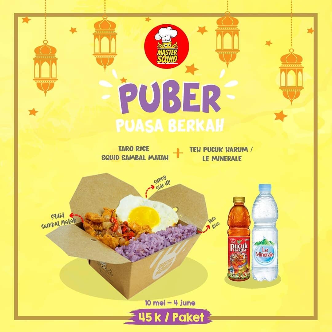 Diskon MASTER SQUID Promo Paket Puasa Berkah Hanya Rp. 45.000