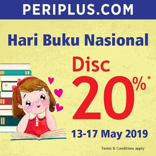 Diskon PERIPLUS.COM Promo Hari Buku Nasional Discount 20%