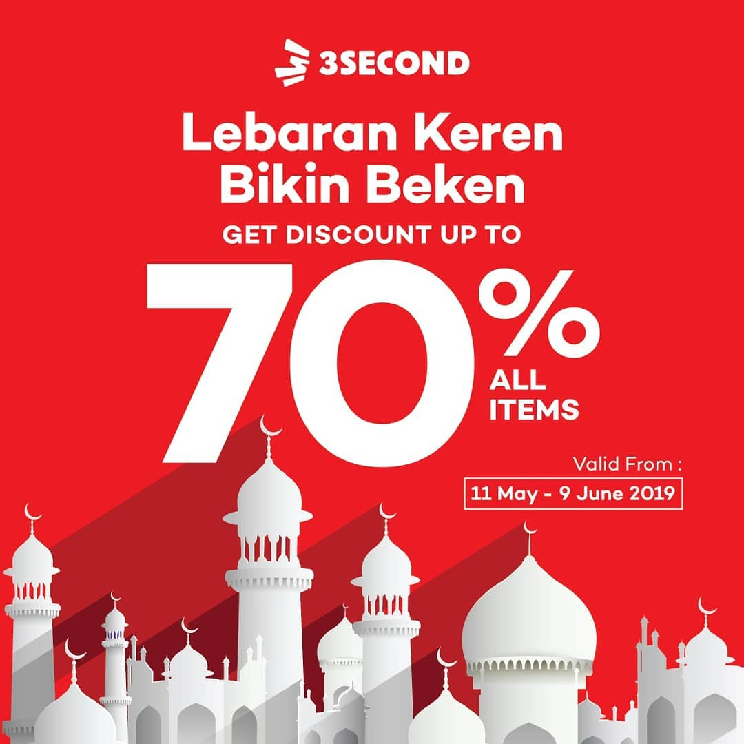 Diskon 3SECOND Clothing Promo Lebaran Diskon Hingga 70% ALL ITEMS