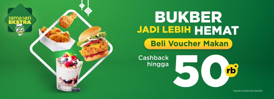 TOKOPEDIA Promo BUKBER HEMAT Beli Voucher Makan CASHBACK hingga 50 Ribu!