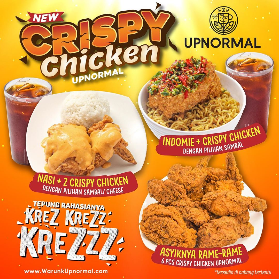 "WARUNK UPNORMAL Promo New Menu ""Crispy Chicken Upnormal"""
