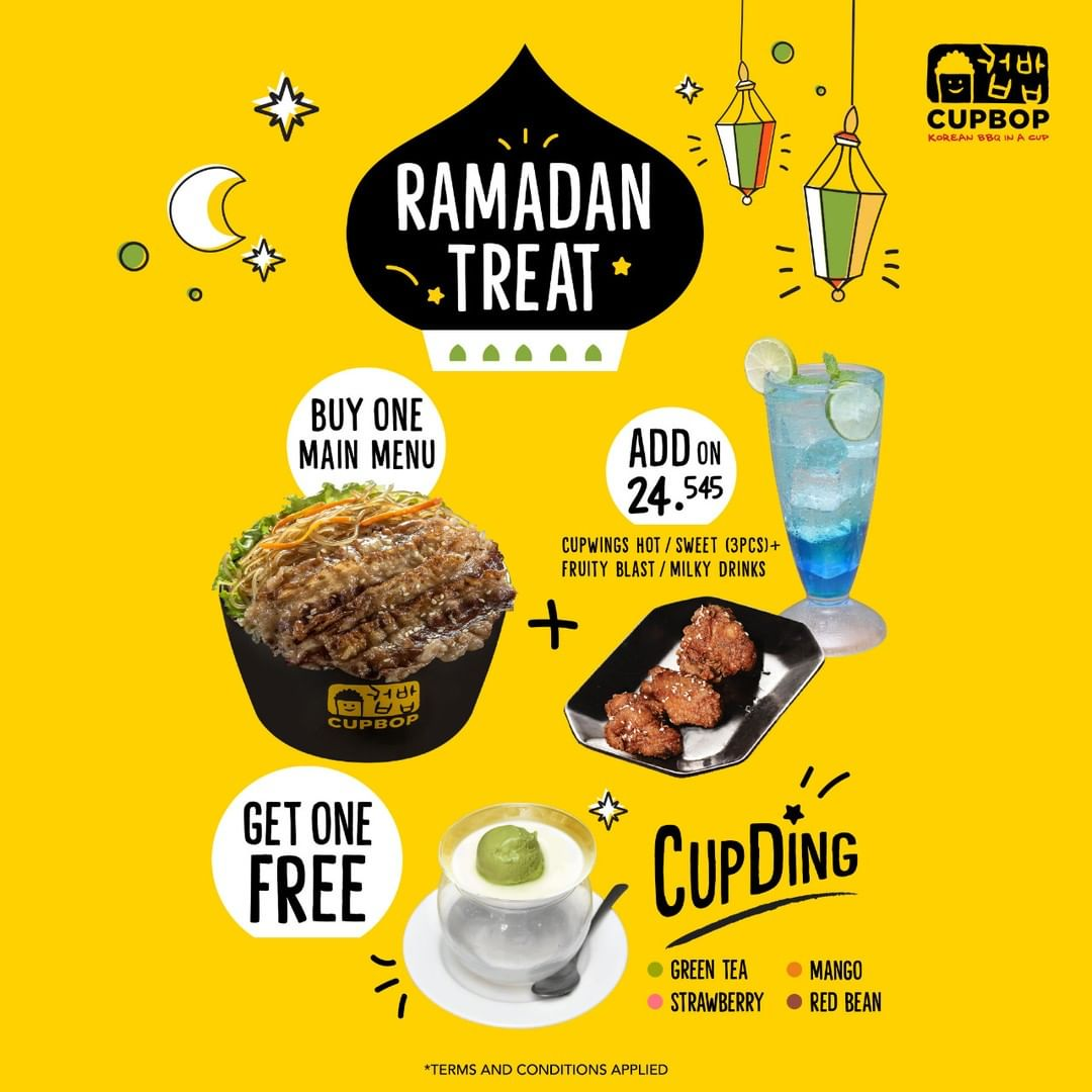 CUP BOP Promo Ramadhan Treat Buy One Main Menu Get One Free CupDing