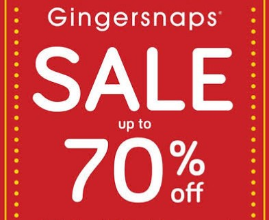 Diskon GINGERSNAPS Promo BIG SALE Up to 70% off + Free Ramadan Voucher