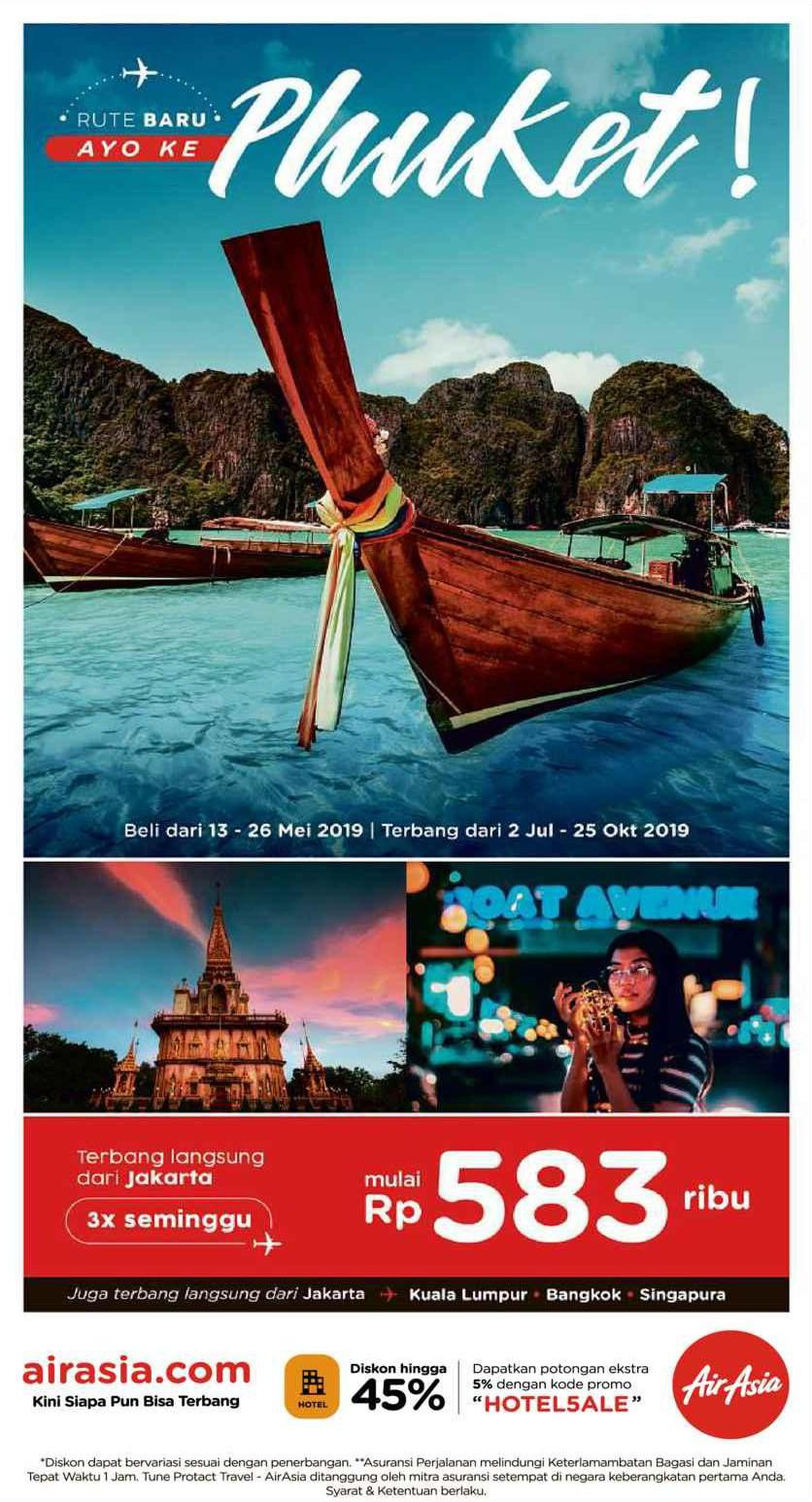 AirAsia Promo Terbang Langsung dari Jakarta – Phuket mulai Rp. 583.000