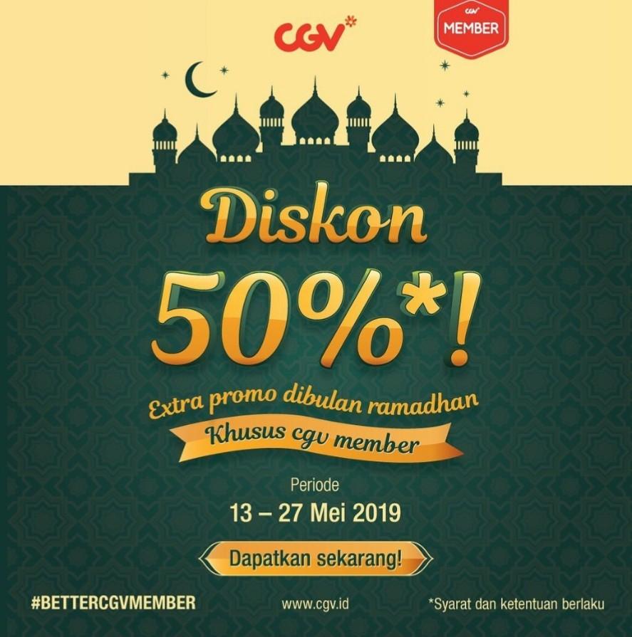 Diskon CGV Promo DISKON 50% TIKET Nonton khusus CGV MEMBER