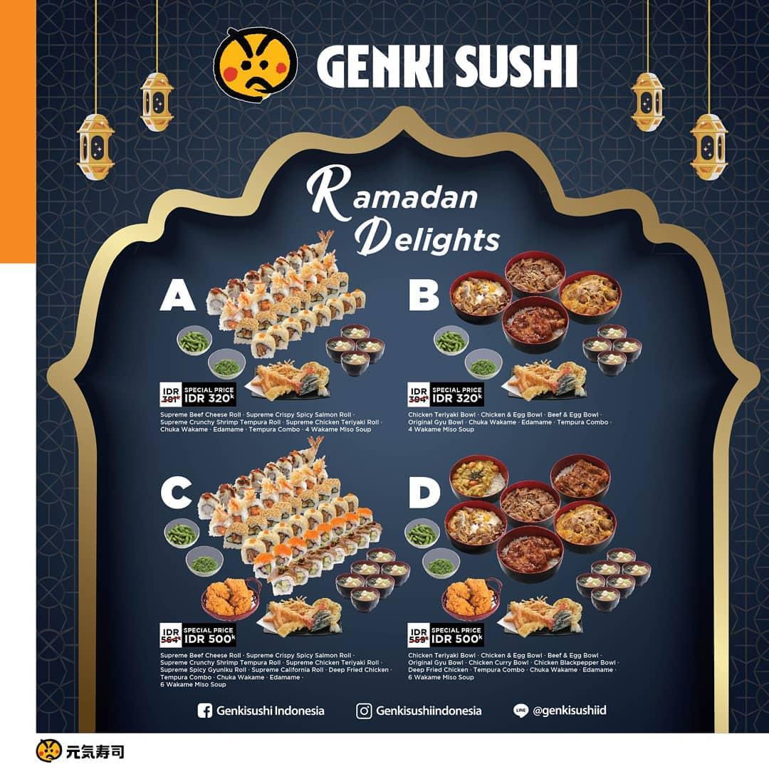 GENKI SUSHI Promo Ramadhan Delights Harga Spesial mulai RP.80.000 per orang