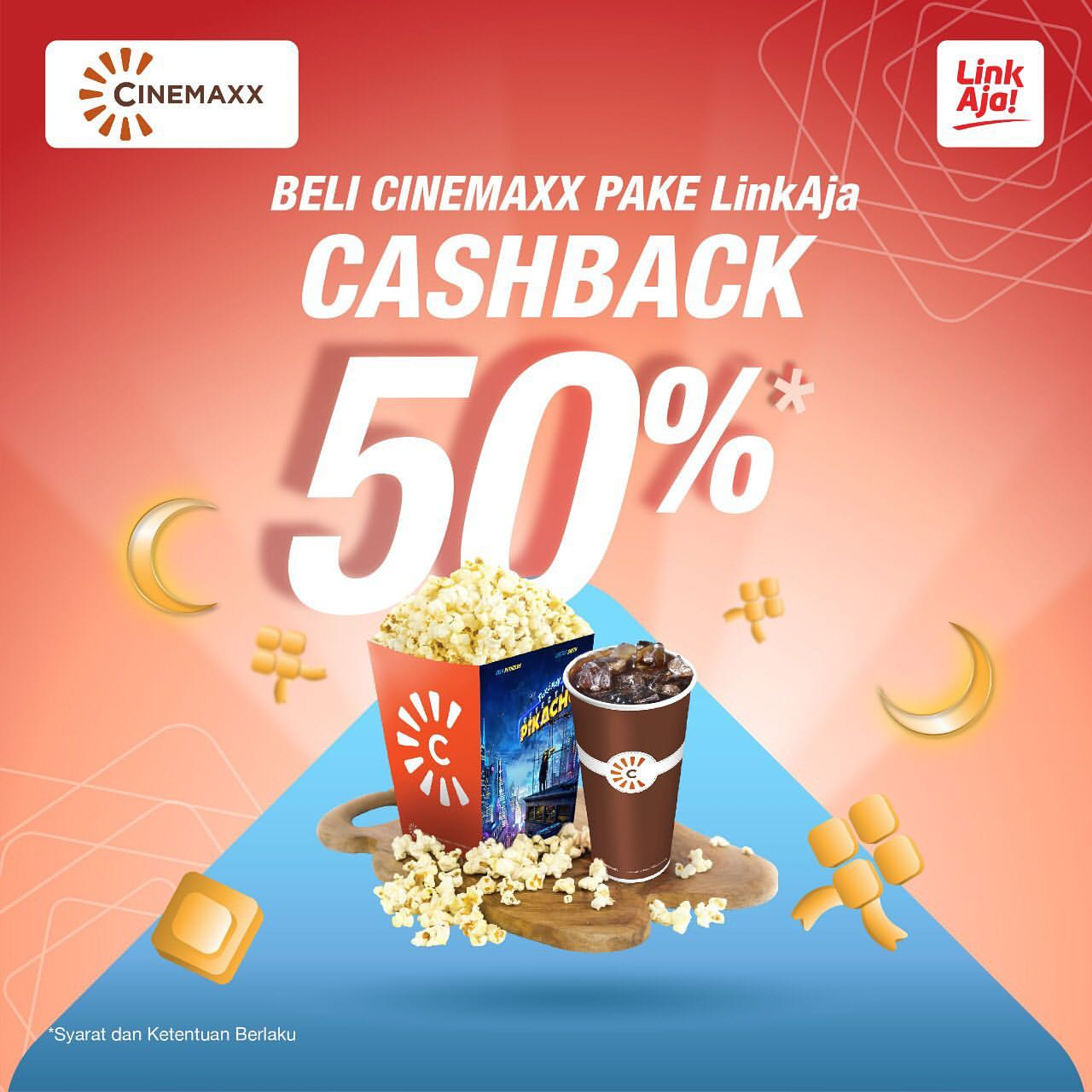 Diskon CINEMAXX Promo Cashback 50% dengan LinkAja