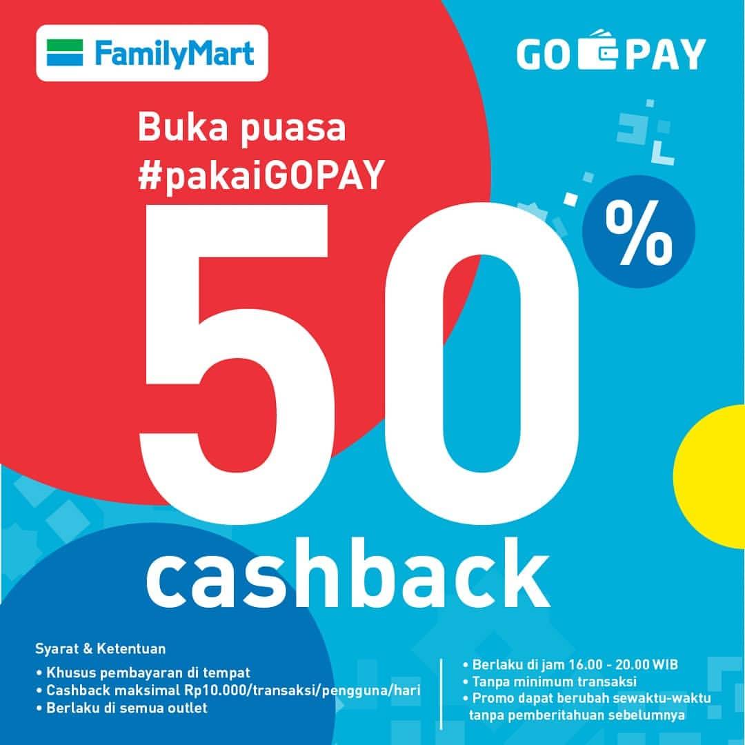 FAMILYMART Promo BUKA PUASA PAKAI GOPAY DAPAT CASHBACK 50%