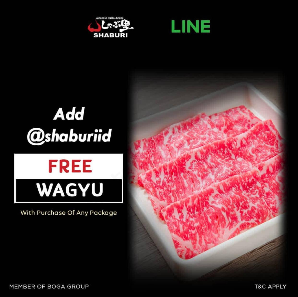 SHABURI Special Promotion Dapatkan GRATIS Wagyu dengan Kupon LINE